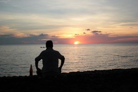 A Ko Chang (Thaïlande) nous avons eu l'embarras du choix. Nous avons opté pour un bungalow au bord de la mer et cette vue.