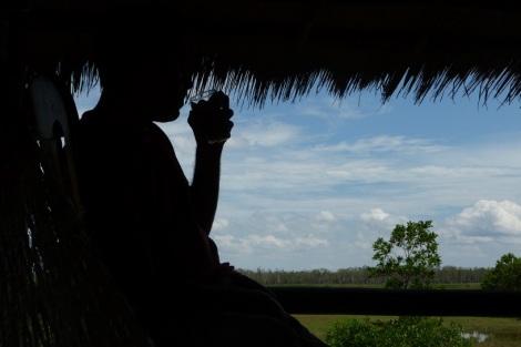 Sur la route entre Krong Koh Kong et Kampot. Des rizières, des hamacs, une bière