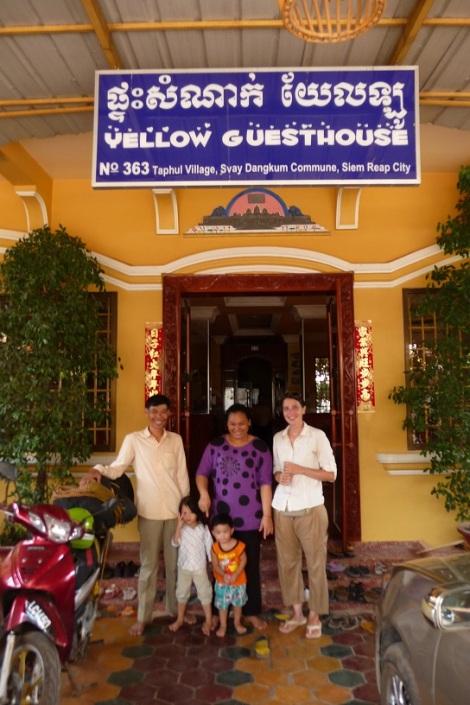 La Yellow Guesthouse de Siem Reap (Cambodge), on s'y est fait des amis !