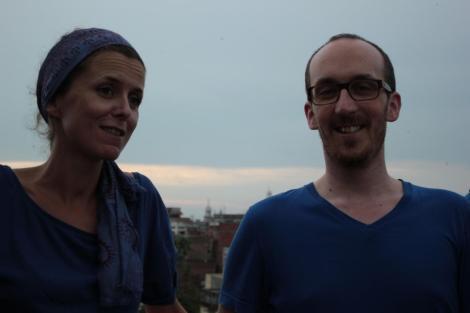 Ludo à droite, Angeline à gauche, qui était bénévole pour l'école