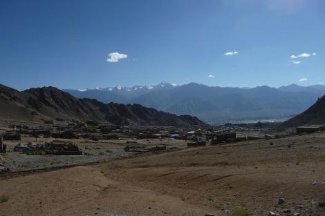 Voilà à quoi ressemble Leh, de loin
